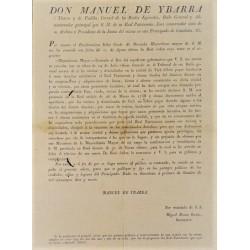 MANUEL DE YBARRA. BARCELONA / VIC. 1819. PAGO LAUDEMIOS