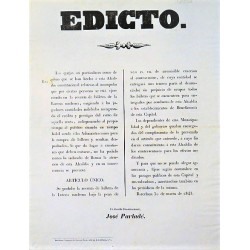 EDICT. BARCELONE 1845. LOTERIE
