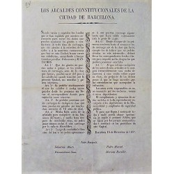 LES MAIRES CONSTITUTIONNELS. BARCELONE 1837. VOITURES