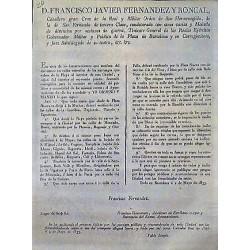 FRANCISCO FERNANDEZ. BARCELONA 1833. CIRCULACIÓN CARRUAJES
