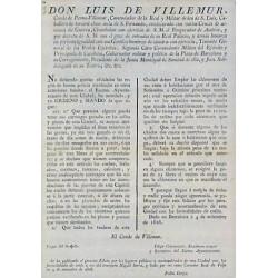 LUIS DE VILLEMUR .BARCELONA 1826. CHARIOTS ET FOYERS