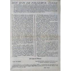 LUIS DE VILLEMUR. GOUVERNEUR.BARCELONA 1828 CHARIOTS ET PAVES