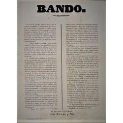 BANDO. BARCELONE 1853. VOITURES