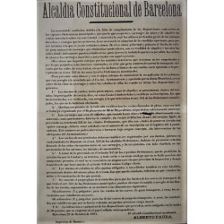 BUREAU DU MAIRE CONSTITUTIONNEL BARCELONE 1875. VOITURES