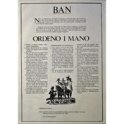 BAN. ORDER I HAND, CARNIVAL 1980. GRACIA (BARCELONA)