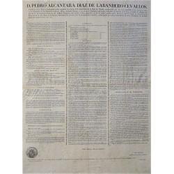 CONSEIL DU PRÉSIDENT DU COMMERCE. BARCELONE 1832. VINS ET SPIRITUEUX