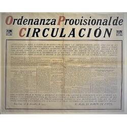 ORDENANZA PROVISIONAL DE CIRCULACIÓN. BARCELONA 1925.