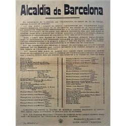 MAIRIE DE BARCELONE 1916. AUTOMOBILES ET VOITURES.