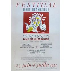 FESTIVAL D'ART DRAMATIQUE. PERPIGNAN 1951