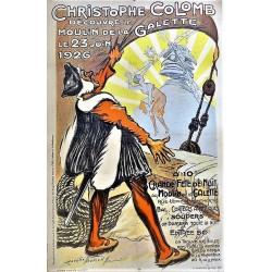 CHRISTOPHE COLOMB DECOUVRE LE MOULIN DE LA GALETTE. 1926