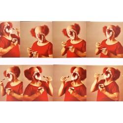 CHARLIE RIVEL. REPORTAJE FOTOGRÁFICO. 15 FOTOS COLOR 12,5 x 12,5