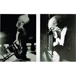CHARLIE RIVEL. CONJUNTO DE 8 FOTOGRAFÍAS DISTINTAS ÉPOCAS. 23 x 18 (4) Y 16 x 11 (4) cm.