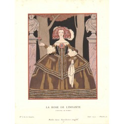 LA ROSE DE L'INFANTE. COSTUME DE WORTH. GEORGES BARBIER. GAZETTE DU BON TON