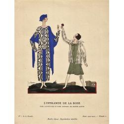 L'OFFRANDE DE LA ROSE. GEORGES LEPAPE GAZETTE DU BON TON