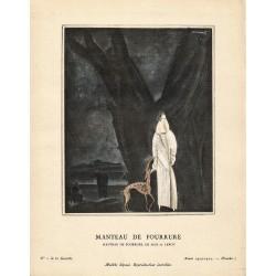 MANTEAU DE FOURRURE DE MAX-A. LEROY. CHARLES LOUPOT. GAZETTE DU BON TON