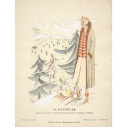 LA PATINOIRE. M. RUEG. COSTUME SPORTS D'HIVER DE MADELEINE VIONNET. GAZETTE DU BON TON