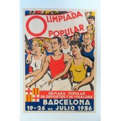 OLIMPIADA POPULAR. BARCELONA 1936