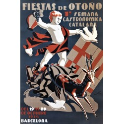 FIESTAS DE OTOÑO. 1ª SEMANA GASTRONOMICA CATALANA. 1934