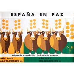 ESPAÑA EN PAZ PRODUCCIÓN AGRÍCOLA GANADERA
