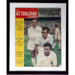 KUBALA Y DISTEFANO CON LA CAMISETA DEL REAL MADRID. LA ACTUALIDAD ESPAÑOLA 1956