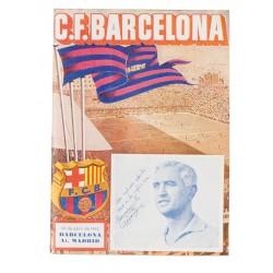 F.C. BARCELONA. CESAR DELANTERO CENTRO 1952. PARTIDO CONTRA AT. MADRID.