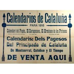 CALENDARIOS DE CATALUÑYA 1916