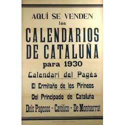CALENDARIOS DE CATALUÑA 1930