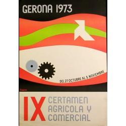 GERONA 1973 IX CERTAMEN AGRICOLA Y COMERCIAL