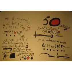 50 ANYS OROTAVA. Joan MIRO