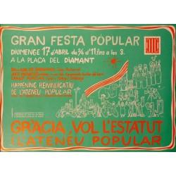GRÀCIA VOL L'ESTATUT I L'ATENEU POPULAR