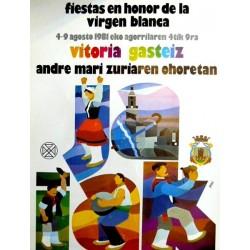 FIESTAS DE LA VIRGEN BLANCA VITORIA 1981