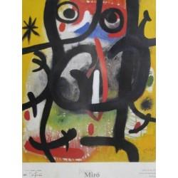 JOAN MIRÓ DONA EN LA NIT, 1970