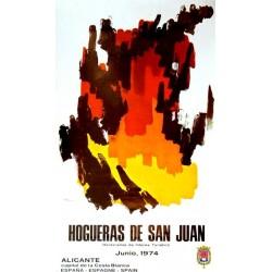 ALICANTE HOGUERAS DE SAN JUAN 1974