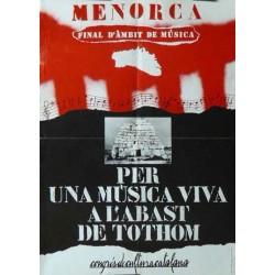 MENORCA, PER UNA MÚSICA VIVA...