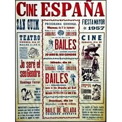 CINE ESPAÑA. SAN GUIM FIESTA MAYOR 1957
