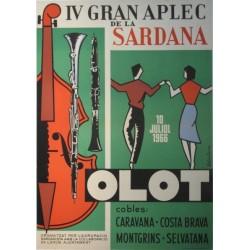 IV GRAN APLEC DE LA SARDANA. OLOT. 1966