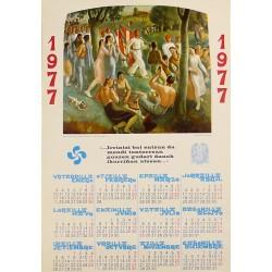 PAIS VASCO CALENDARIO 1977