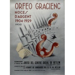 ORFEO GRACIENC. NOCES D'ARGENT 1904-1929