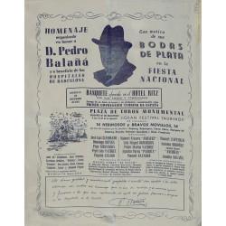 HOMENAJE A BALAÑA. BODAS DE PLATA EN LA FIESTA NACIONAL. 1951