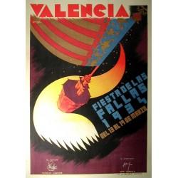 VALENCIA 1934. FIESTA DE LAS FALLAS