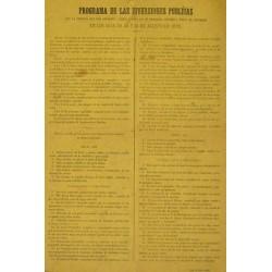 MANRESA 1876.PROGRAMA DE LAS DIVERSIONES PUBLICAS