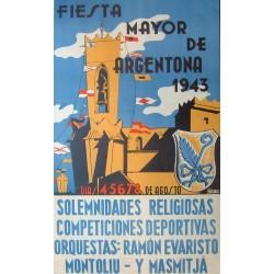 FIESTA MAYOR DE ARGENTONA 1943