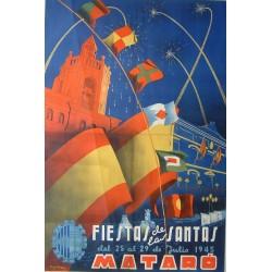 FIESTAS DE LAS SANTAS MATARO 1945