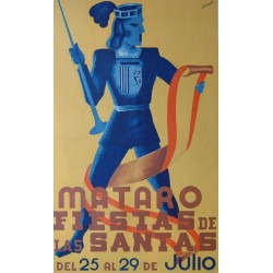 FIESTAS DE LAS SANTAS MATARO Ca.1940