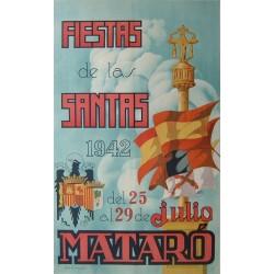 FIESTAS DE LAS SANTAS MATARO 1942