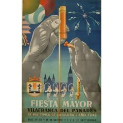 FIESTA MAYOR 1949 VILAFRANCA DEL PANADES