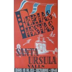 VALLS FERIAS Y FIESTAS DE SANTA URSULA 1946
