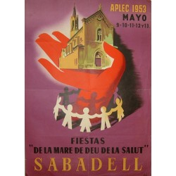 SABADELL FIESTA MARE DE DEU DE LA SALUT 1953