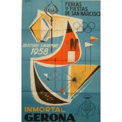 GERONA FERIAS Y FIESTAS DE SAN NARCISO 1958