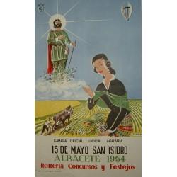 ALBACETE 1954 ROMERIA Y FESTEJOS